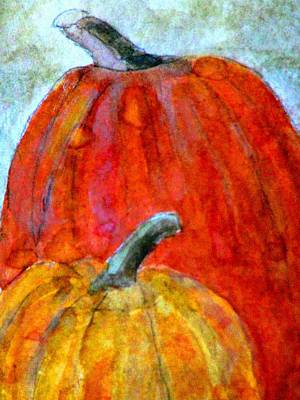 Painting - Wet Pumpkins by Angela Davies