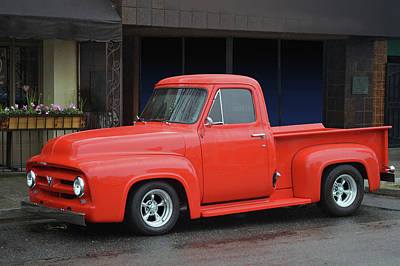 Photograph - Wet Red Ford by Bill Dutting