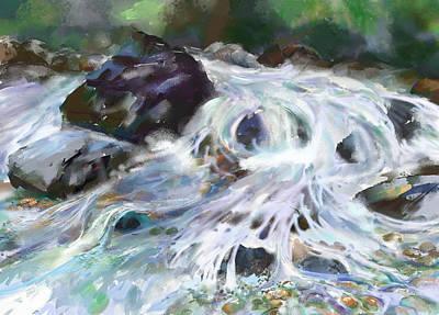 Painting - Wet Rocks by Elaine Pawski