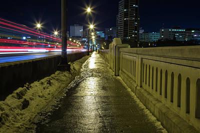 New Years - Wet Sidewalk at Night by Ryan Friesen