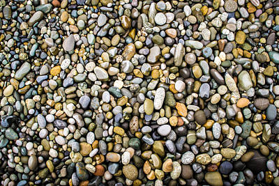 Photograph - Wet Stones And Pebbles by John Williams