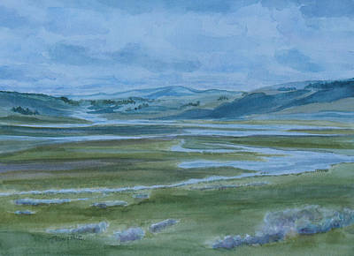Yellowstone Wall Art - Painting - Wet Summer In Big Sky Country by Jenny Armitage