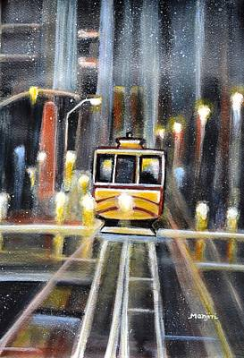 Painting - Wet Tram California by Manjiri Kanvinde