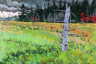 Marsh Grass Painting - Wetland Sentinel by Phil Chadwick