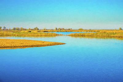 Digital Art - Wetlands Digital Watercolor by Randy Herring