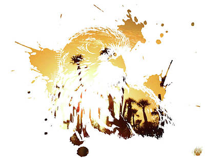 Digital Art - Wetlands Hawk by Elie Wolf