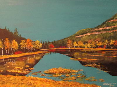 Painting - Wetlands In Autumn by Dave Farrow