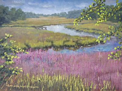 Peter Muzyka Wall Art - Painting - Wetlands Near Darien Georgia by Peter Muzyka