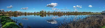 Wetlands Panorama  Art Print