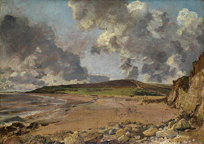 Cloudy Painting - Weymouth Bay, Bowleaze Cove And Jordon Hill by John Constable