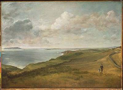 Weymouth Bay From The Downs Above Art Print by MotionAge Designs