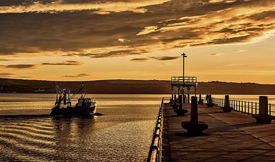 Photograph - Weymouth Harbor Sunset by Tim Hill