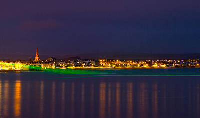 Weymouth Laser Nights Art Print by David French