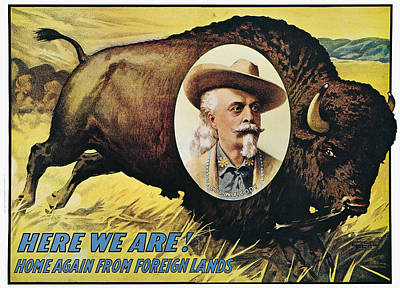 W.f.cody Poster, 1908 Print by Granger