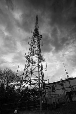 Photograph - Wgbh Tower In Black And White by Brian MacLean