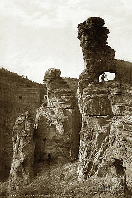 Photograph - W. H. Jackson Portrait With Camera,temple Of Isis, Colorado Circa by California Views Mr Pat Hathaway Archives