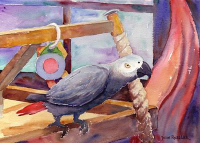 African Gray Painting - Whaaat by John Ressler
