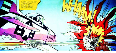 Whaam - Roy Lichtenstein  Art Print