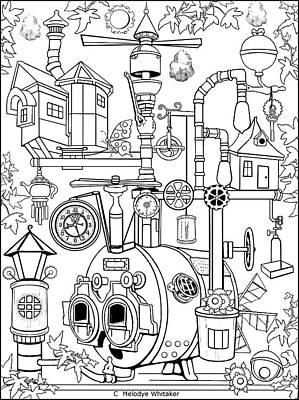 Drawing - Whacky Mechanics by Melodye Whitaker