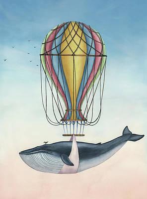 Painting - Whale And Bird by Zapista Zapista