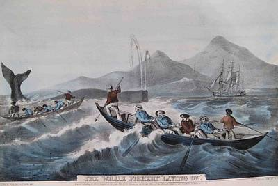 1850s Painting - Whale Fishing by MotionAge Designs