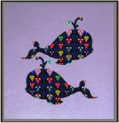 Champion Mixed Media - Whale Graphic Happy Art Fish  Fish Poisson  Exotic Exotique Speed Delicacy Delicatesse Delicacy Fun by Navin Joshi