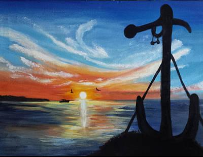 Whale Harbor Sunrise Original by Sea-Gyp-C