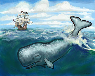 Digital Art - Whale Ho by Kevin Middleton