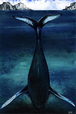Whale Mixed Media - whale II by Anthony Burks Sr