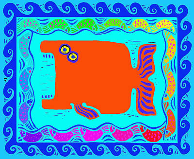 Digital Art - Whale Of A Party by Vagabond Folk Art - Virginia Vivier