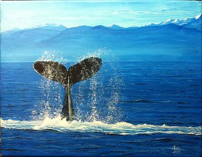 Whale Of A Tail Art Print by Mike Ivey