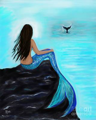 Painting - Whale Watching Beauty by Leslie Allen