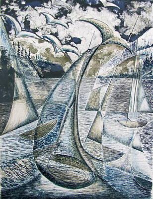 Whale Watching Art Print