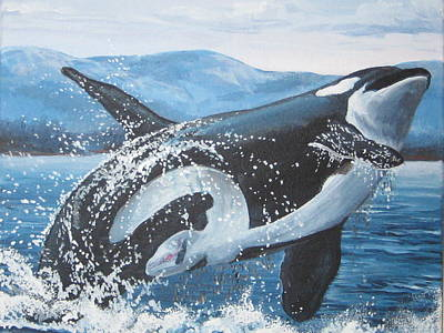Whale Watching Art Print by May Moore