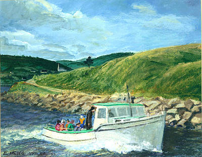 Whale Watching  Nova Scotia Art Print by Ethel Vrana