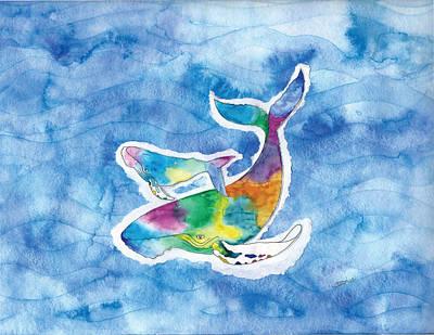 Painting - Whalelovesong by Debi Hammond