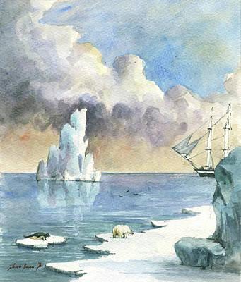 Whaler On Ice Art Print