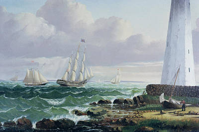 Rocky Painting - Whalers Coming Home by American School