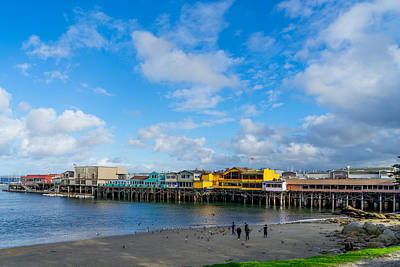 Photograph - Wharf And Beach by Derek Dean