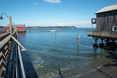 Photograph - Wharf And Weathered Building by Tom Cochran