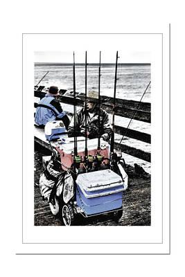 Old Man Digital Art - Wharf Fisherman by Frank Garciarubio