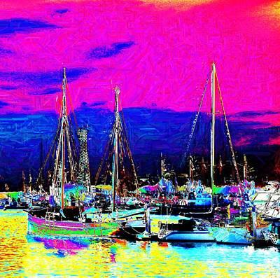 Wharf Art Print by Howard Lancaster