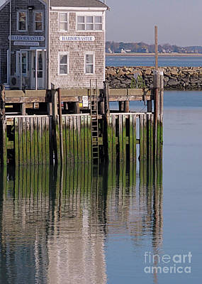 Photograph - Wharf Reflections by Janice Drew