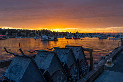 Photograph - Wharf Sunset by Derek Dean