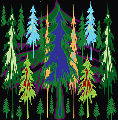 The Trees Mixed Media - What A Beautiful Tree Spectrum Authentic Abstract Signature Art Only From Navin Joshi by Navin Joshi
