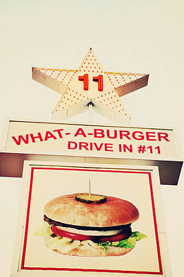 What A Burger Print by Kim Fearheiley