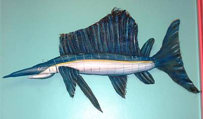 Swordfish Mixed Media - What A Catch by Ellen Burns