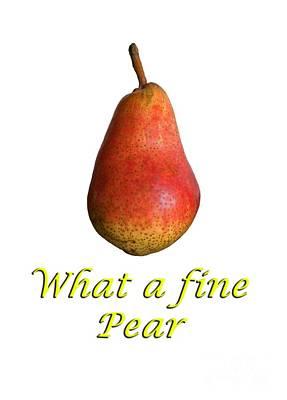 What A Fine Pear Art Print by Gillian Singleton