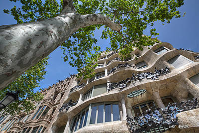 Photograph - What A Gaudi Apartment by Walt  Baker