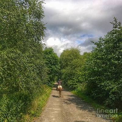 Horse Photograph - What A Great Ride Out.  This Is Natalie by Isabella F Abbie Shores FRSA